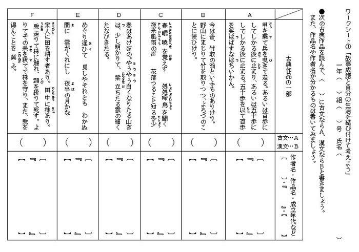 漢字 4年生 漢字 問題 : 故事成語と自分の生活を ...