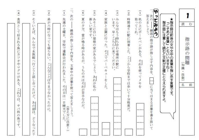 やってみよう 学習に役立つ国語科プリント基礎基本編